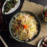 Canton Road signature fried rice, sea urchin, shrimp and Australian scallop