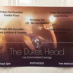 Live Entertainment evenings in December - Free Admission