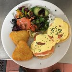At rendezvous caffe they do the best eggs benedict and eggs royale  Perfect