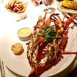 Fantastic fresh perfectly cooked sweet Caribbean lobster with Béarnaise sauce!