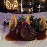 Filet de bœuf, conchiglioni farcis au foie gras