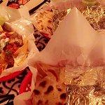 Lamb quesadilla, and tacos.