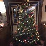 Weihnachtsbaum im Restaurant