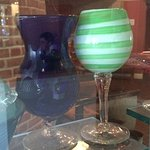 Beautiful colored, handblown glass