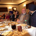 16 of us enjoyed mainly vegetarian curries
