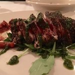 Peppercorn Crusted Tuna appetizer