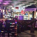 Inside Restaurat (Notice Beer Selection in Background!)