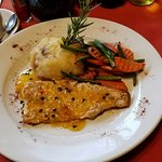 Trout with mango sauce- delicious!