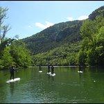 Stand up paddle dans les Gorges du Tarn.