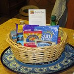 The basket of free goodies