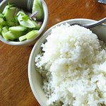 Cucumbers and rice