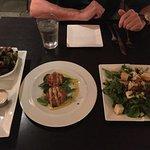 Crispy fried Brussel sprouts; Crab Caakes; Fresh Mozzarella salad were terrific at Ami Ami in Ki