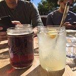 Refreshing lemonade and local beer