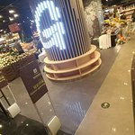 The supermarket called G Super, located at Basement level 2 of the Raffles City Shopping Mall.