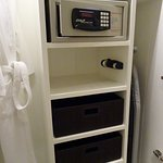 Practicality - the safe and wardrobe - there were two full robes with heaps of storage