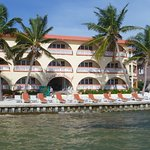 iew of the hotel from its ocean dock