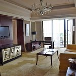 The living room of a suite