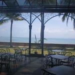 Outdoor breakfast area