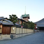 In front of the ryokan
