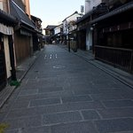 The street in front of the ryokan