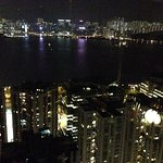 View across the water towards Kowloon from Sugar rooftop bar