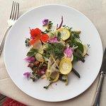 Mon assiette vegan , avec les légumes du potager.