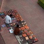 Sale of local handicraft at the door step
