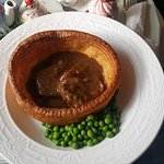Yorkshire pud with local meat