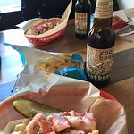 Lobster rolls and root beer - delicious