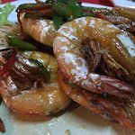 salt-baked prawns