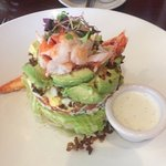 Composed avocado, lobster salad