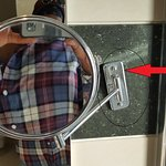 Fig.3 bathroom mirror hanging off wall