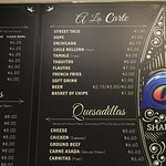 New menu at olas de Carlos surf grill