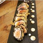 salmó en tempura