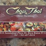 Chow Thai Business Card