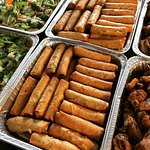 Custom order spring rolls platter.  Great addition for the holiday festivities or any large get