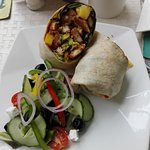 Lovely crumbed chicken wrap