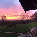 View from the farmhouse at sunrise December 16 - beautiful!