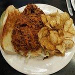 BBQ Pulled Pork 'Po Boy Sandwich