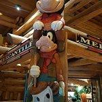 Mickey totem pole
