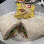 Turkey Avacado Wrap with chips