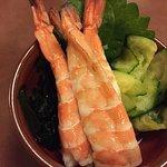 Lightly marinated shrimps