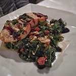 Balsamic chicken breast with wilted spinach