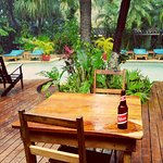 view from palapa bar on our only rainy day