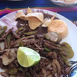Beef Fajitas at Frosty's in Tulum , Mexico
