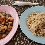 Honey Plum Chicken and Fried rice