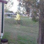 From bedroom window towards caravan area
