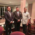 With Nasir(Captain)&Sarfaraz (Asst Restaurant Manager)