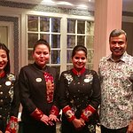 With Hostess Shivani, Wanri & Dipika(both Service Associates)
