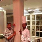 With Chinese Head Chef Himadri Sekhar Paria